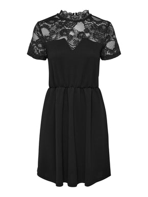 MONNA SHORT SLEEVE MIX DRESS
