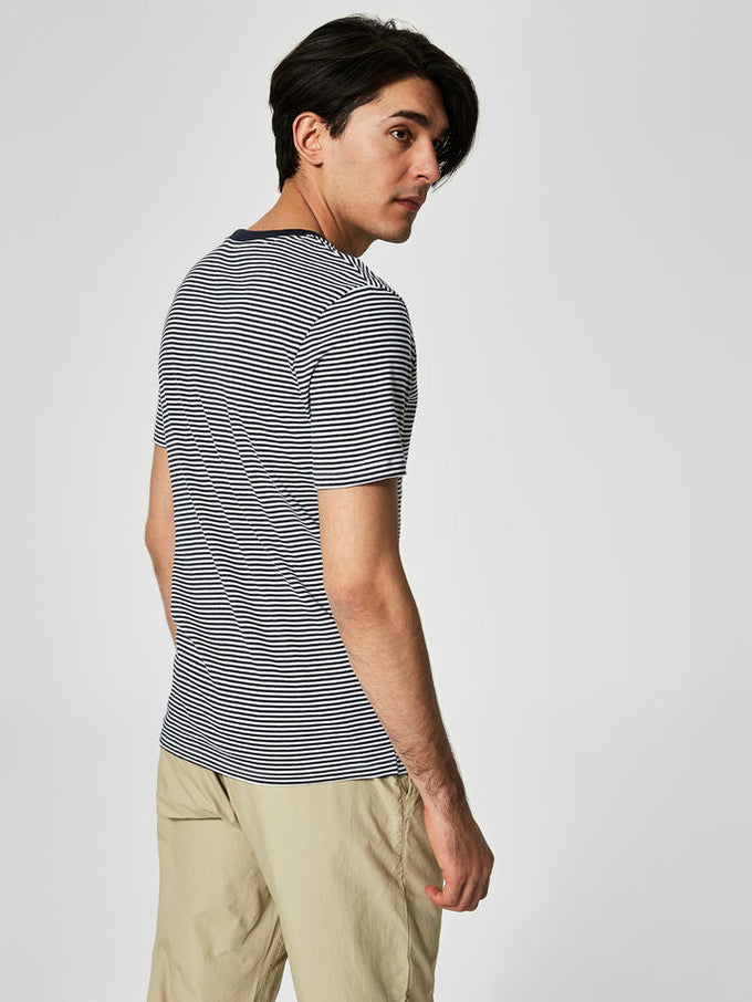 THE PERFECT STRIPED T-SHIRT Bright White