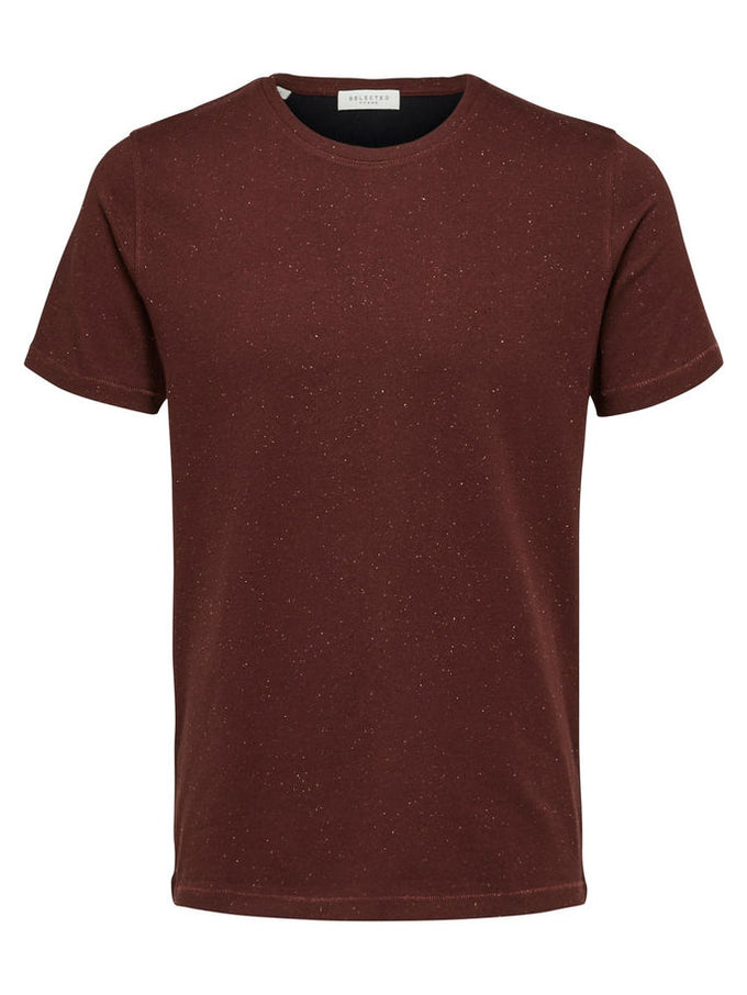 FLECKED T-SHIRT WITH ORGANIC COTTON Bitter Chocolate