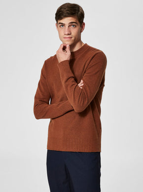 WOOL BLEND HIGH-NECK SWEATER
