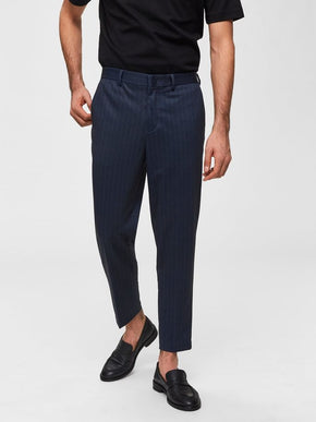 CROPPED PINSTRIPE DRESS PANTS