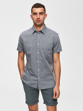 MICRO-PRINT SHORT SLEEVE SHIRT
