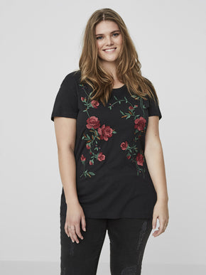 LONG EMBROIDERED T-SHIRT