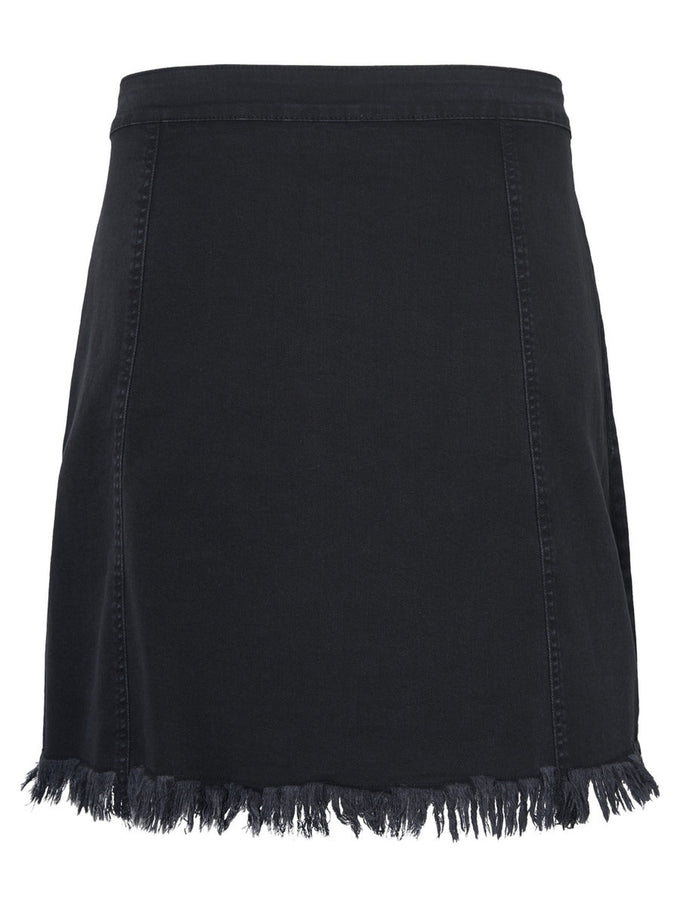 A-LINE DENIM SKIRT Dark Grey Denim
