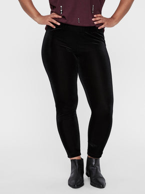 TEXTURED VELVET LEGGINGS