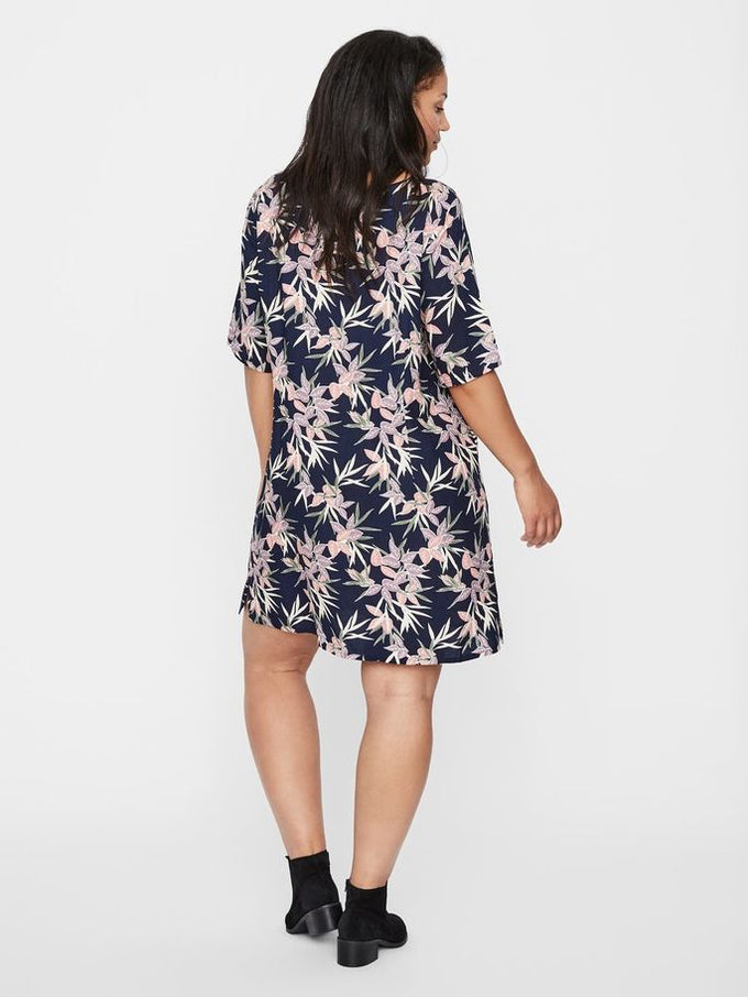 STRAIGHT FIT PRINTED DRESS Navy Blazer