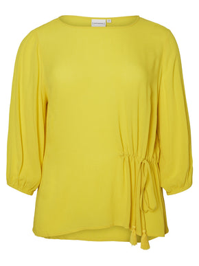 YELLOW 3/4 SLEEVE BLOUSE