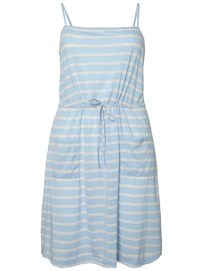 SOFT STRIPED DRESS Blue Bell