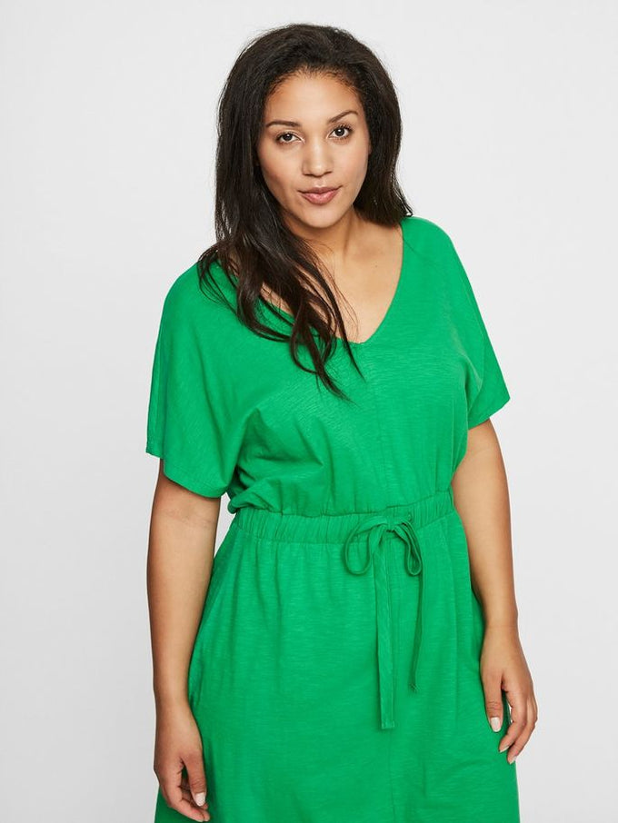 ORGANIC-COTTON CASUAL DRESS Fern Green
