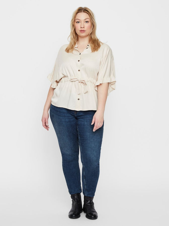FEMININE LOOSE SHIRT Sand Dollar