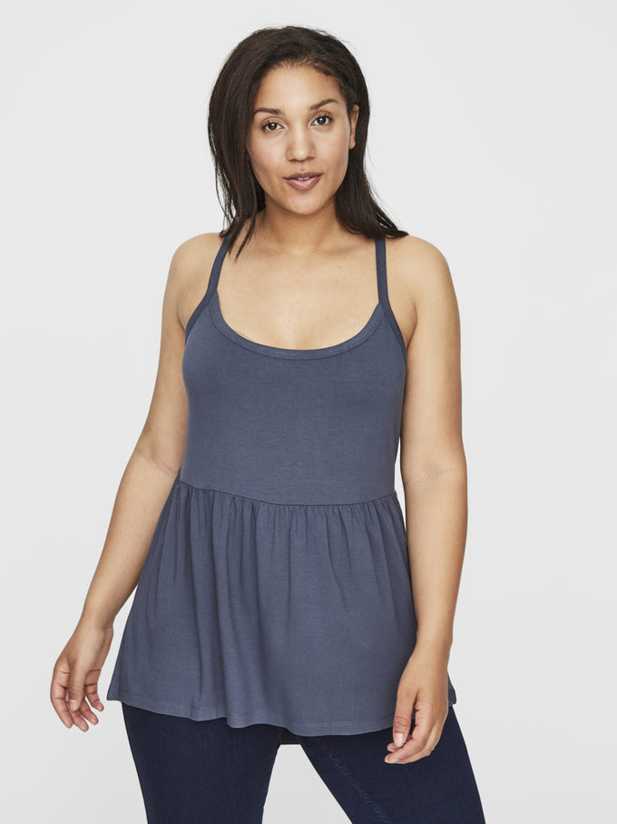 HIGH-LOW JERSEY CAMI Ombre Blue