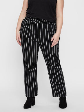 LOOSE STRIPED JERSEY PANTS