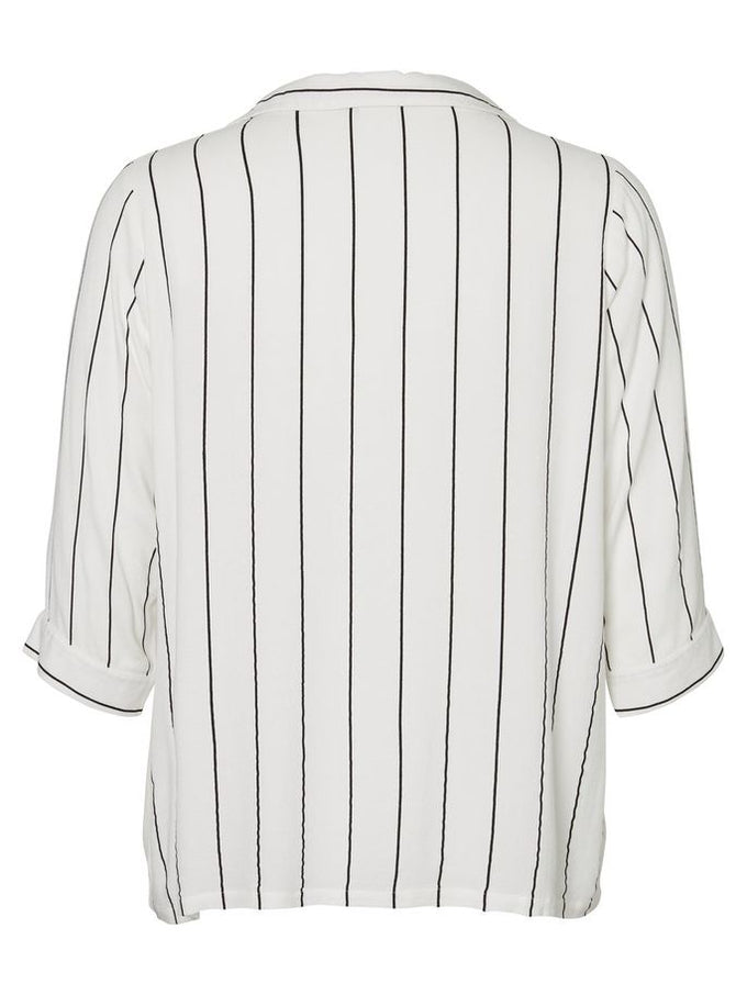 LOOSE STRIPED SHIRT Snow White