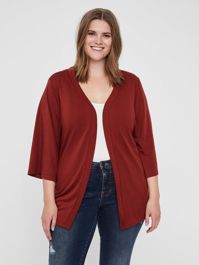 LIGHT KIMONO CARDIGAN Madder Brown