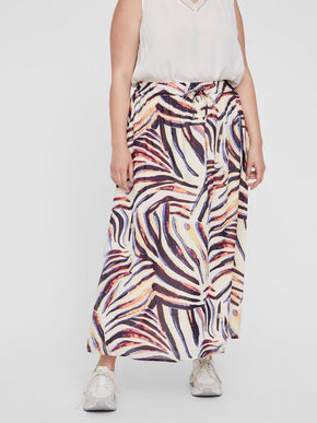 PRINTED ANKLE SKIRT
