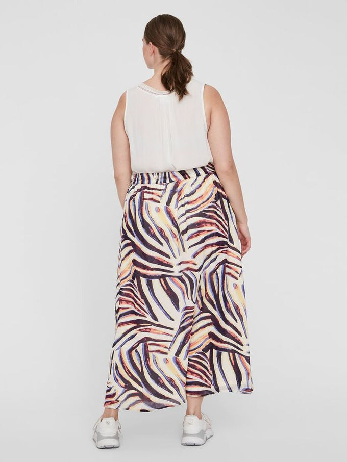 PRINTED ANKLE SKIRT Sand Dollar