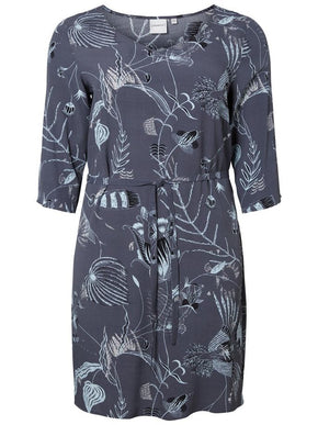 FLUID PRINTED DRESS