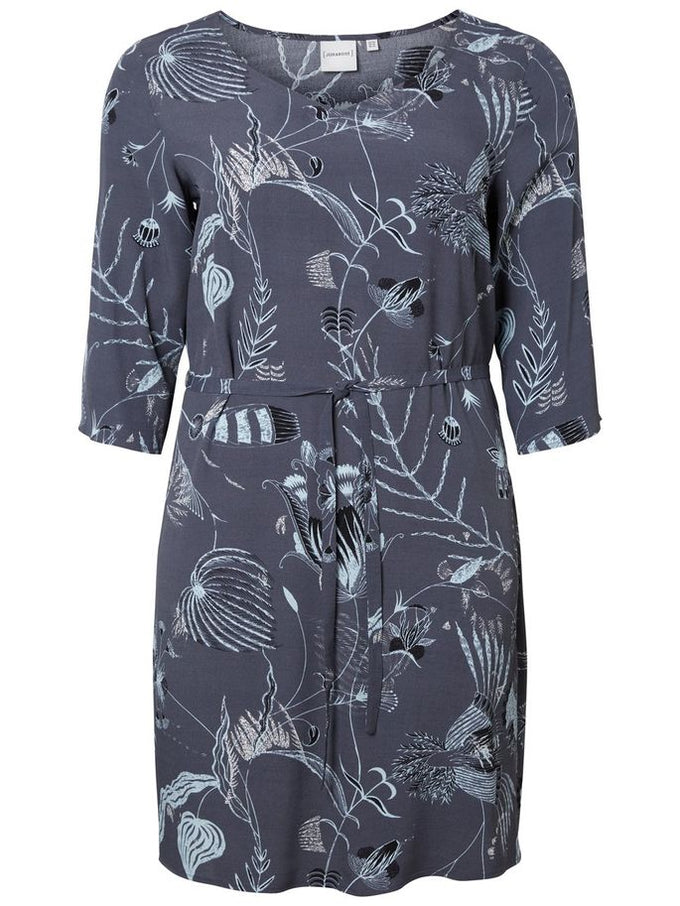 FLUID PRINTED DRESS Ombre Blue