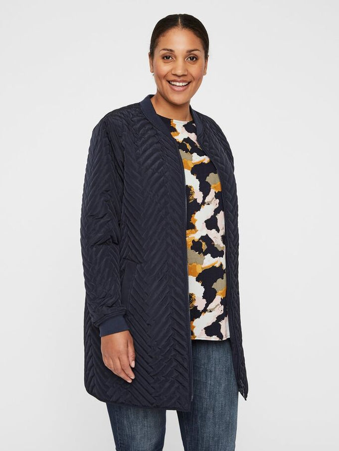 BRIZE LONG SLEEVE QUILTED JACKET Navy Blazer