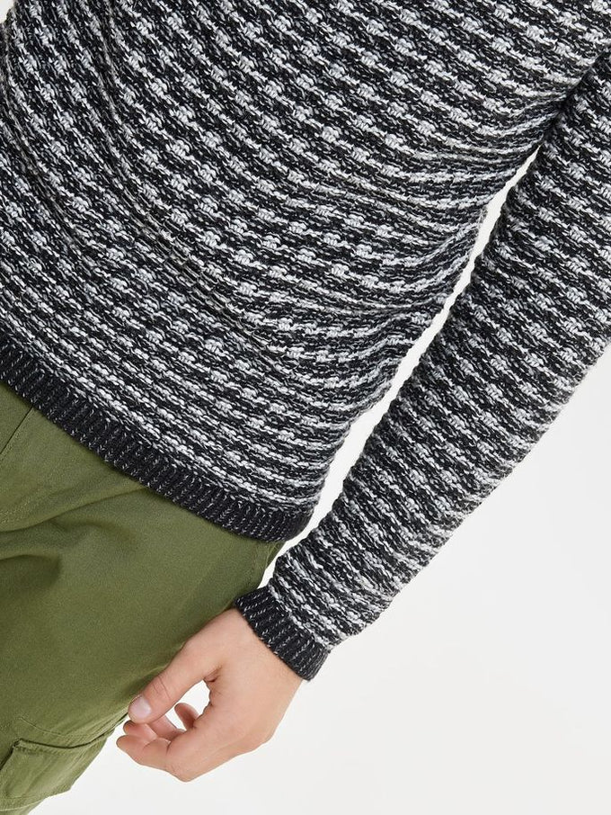 HEAVY KNIT TURTLENECK Grey Melange