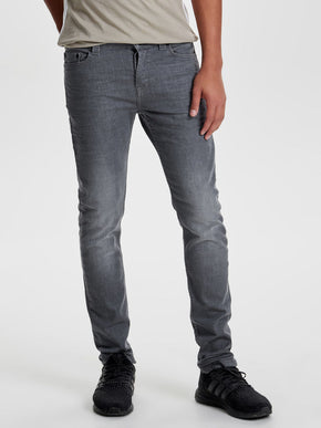 SLIM FIT GREY JEANS