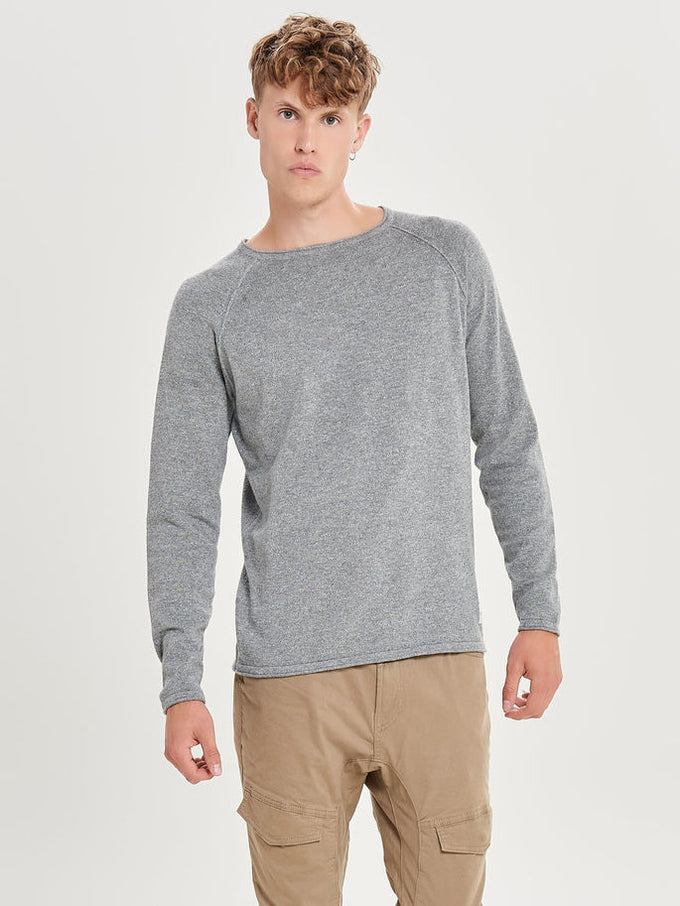 TWO-TONE LIGHT SWEATER Griffin