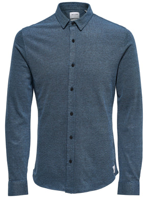 KNIT STYLE SLIM FIT SHIRT