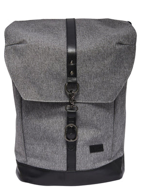 BACKPACK WITH LEATHER DETAILS