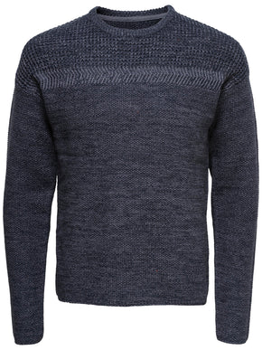 HEAVY KNIT GRADIENT STYLE SWEATER