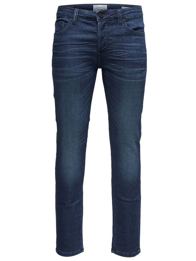 SLIM FIT JOGGER STYLE STRETCH JEANS Blue Denim