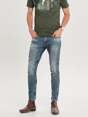 SKINNY FIT WASHED LOOK JEANS
