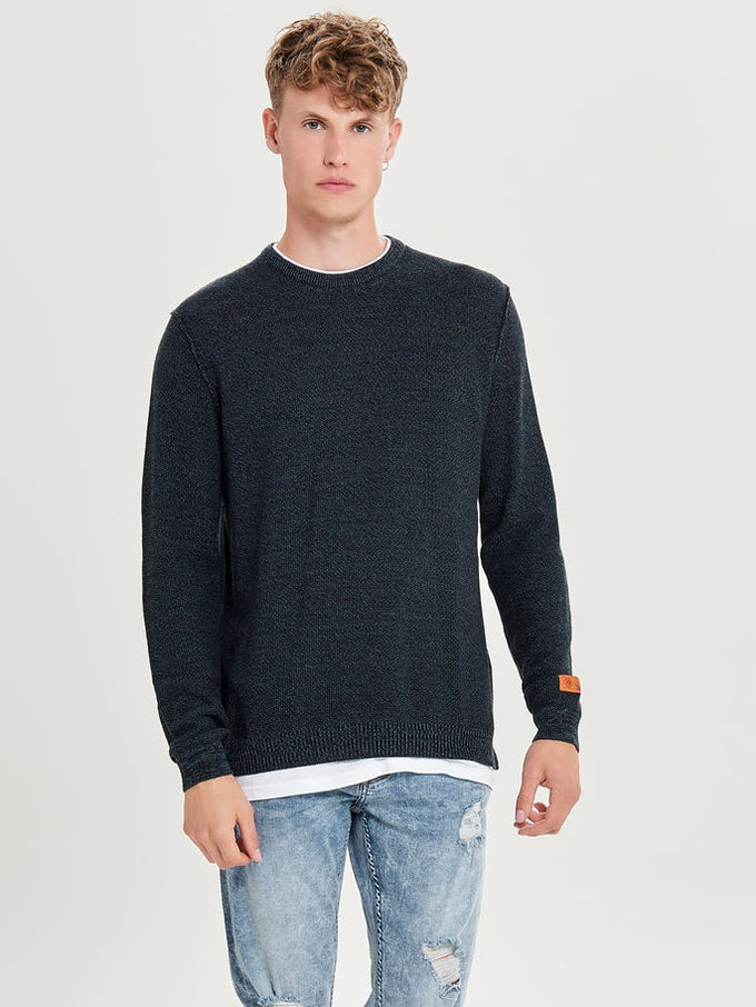 LAYERED SWEATER Black