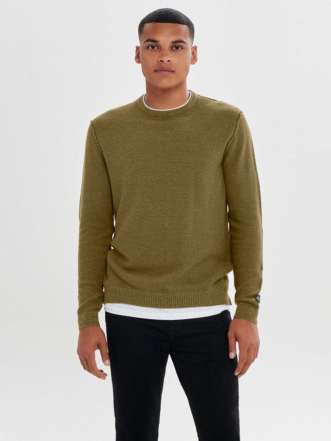 LAYERED SWEATER Kangaroo