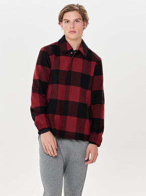 CHECKERED WOOL-BLEND JACKET