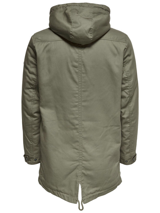FISHTAIL PARKA WITH TEDDY LINING Fallen Rock