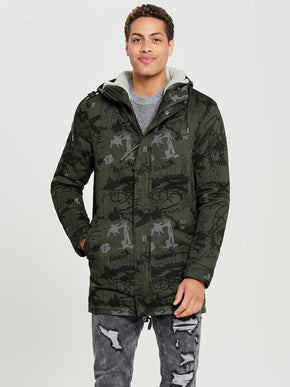 FISHTAIL PARKA WITH TEDDY LINING