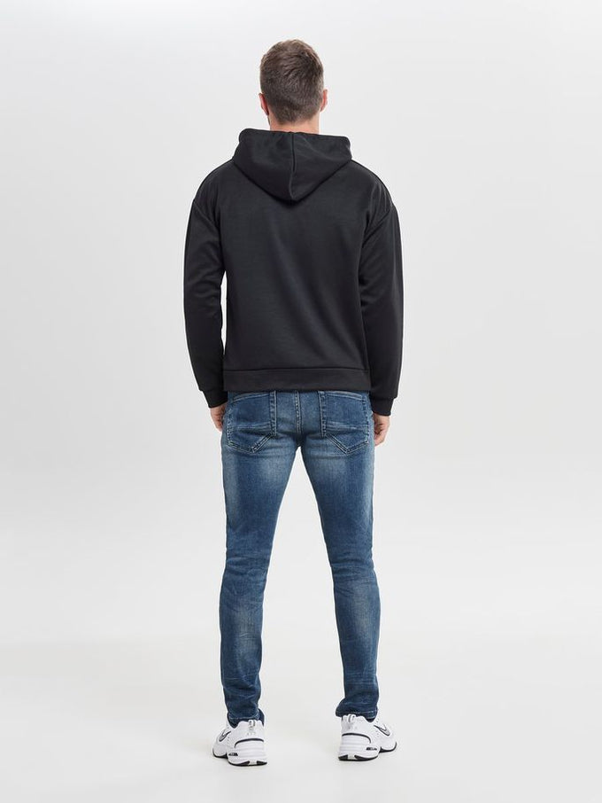 HOODIE WITH FLAP POCKET Black