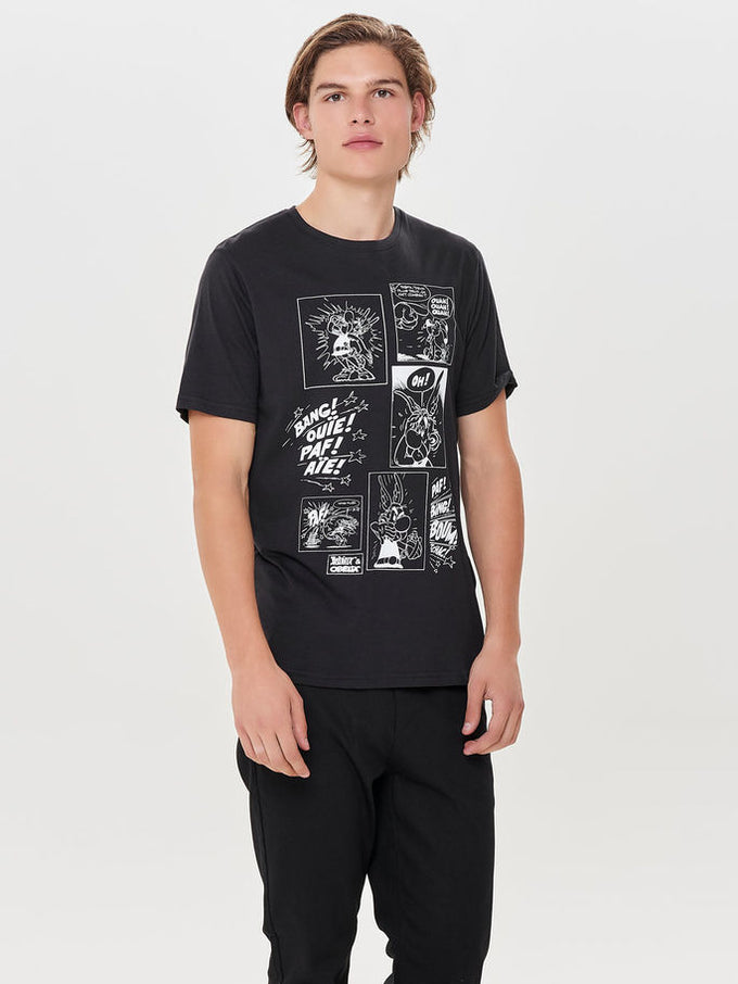 ASTERIX T-SHIRT Black