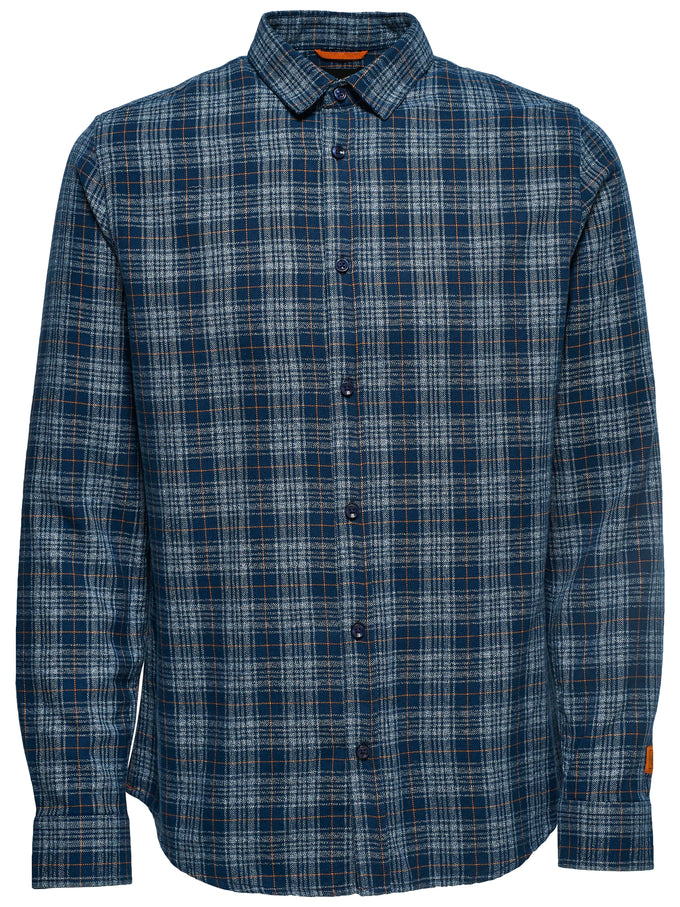 SMALL CHECKS SHIRT Blue Nights