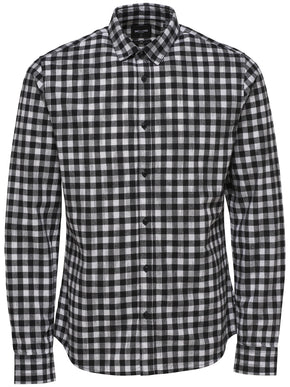 SLIM FIT SHIRT WITH FADED CHECKS
