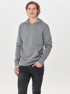 BASIC HOODIE WITH BRUSHED INSIDE