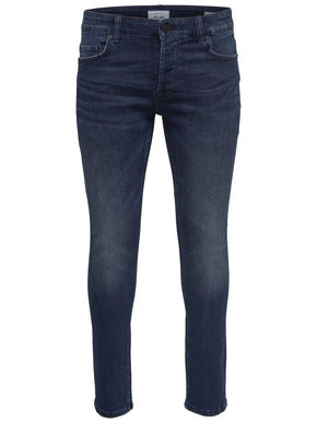 SLIM FIT BLUE WASHED JEANS