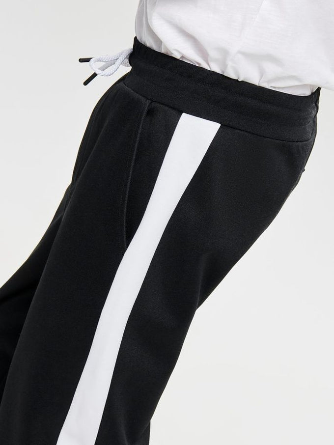 ATHLETIC STYLE STRIPED PANTS Black