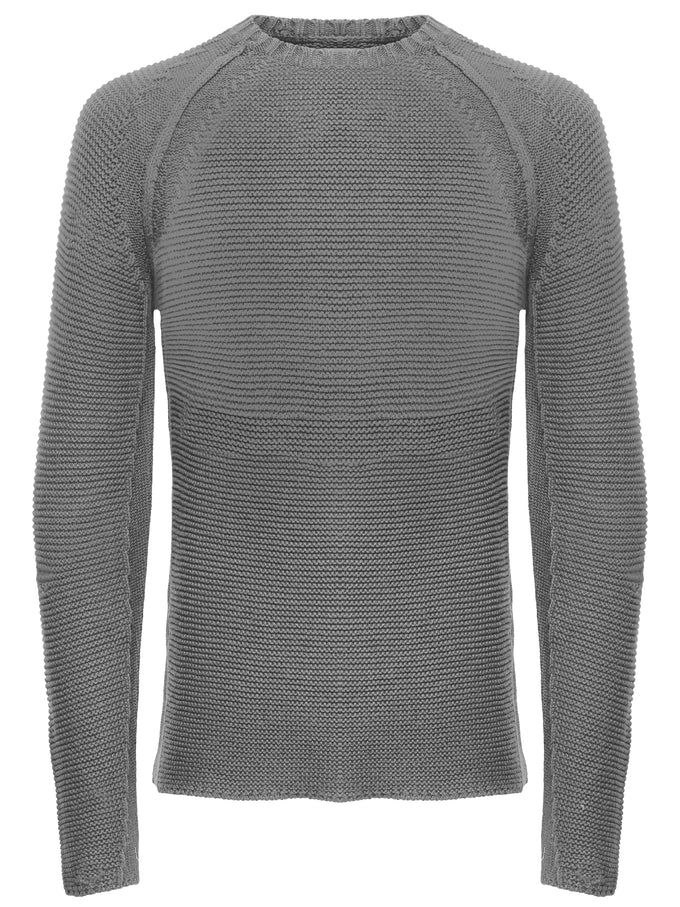 STRETCHY STITCH SWEATER Medium Grey Melange