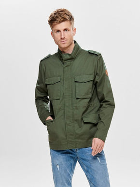 MILITARY STYLE CANVAS JACKET