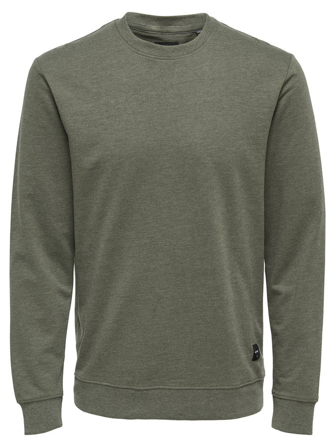 BASIC SOFT CREWNECK Olive Night
