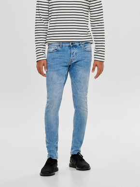 SLIM FIT PALE BLUE JEANS