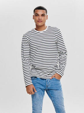 FINAL SALE – LONG SLEEVE STRIPED T-SHIRT
