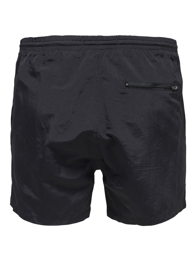 BASIC LOGO SWIM SHORTS Black