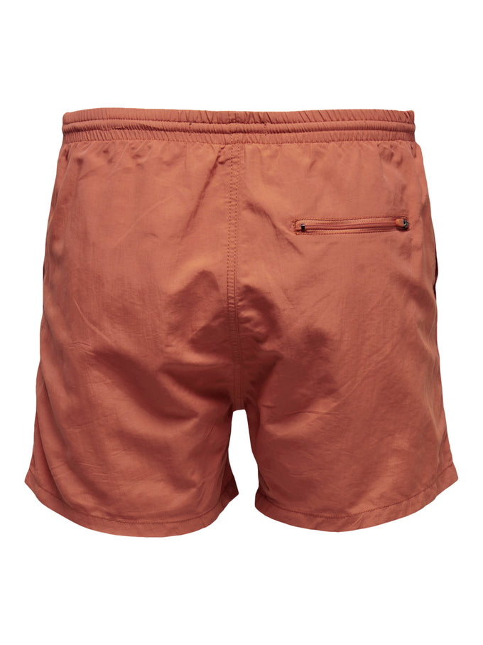 BASIC LOGO SWIM SHORTS Chili